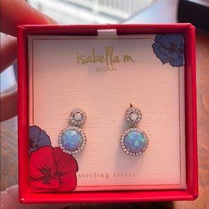Isabella M Opal Sterling Silver Earrings